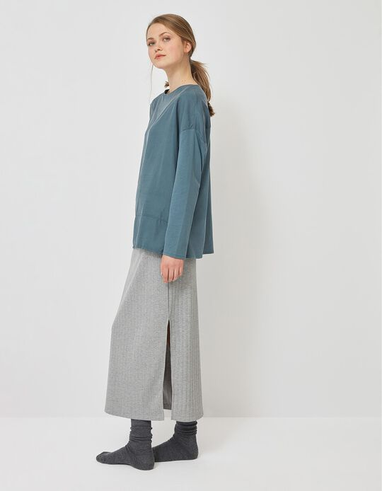 Rib Knit Skirt, for Women