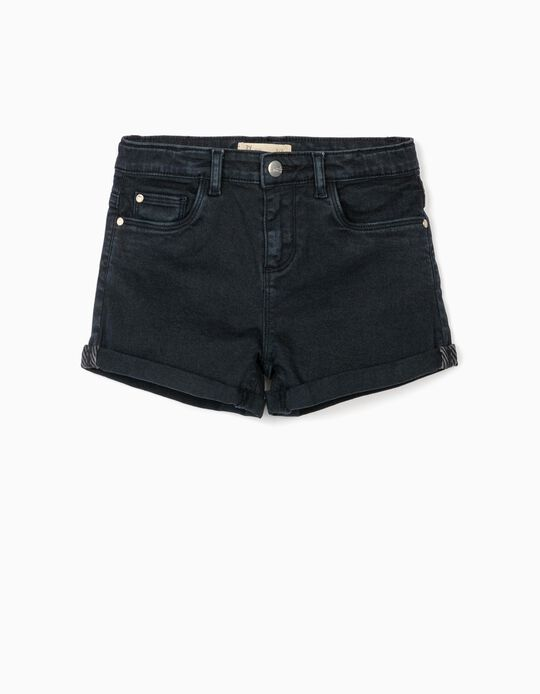 Twill Shorts for Girls 'Cosmic World', Dark Blue