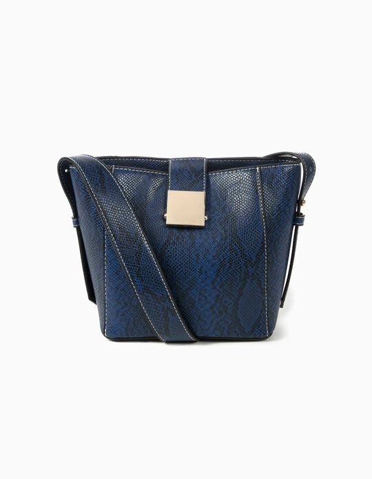 Handbag with snakeskin-effect strap