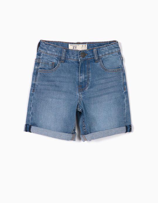 Denim Shorts for Boy, Light Blue