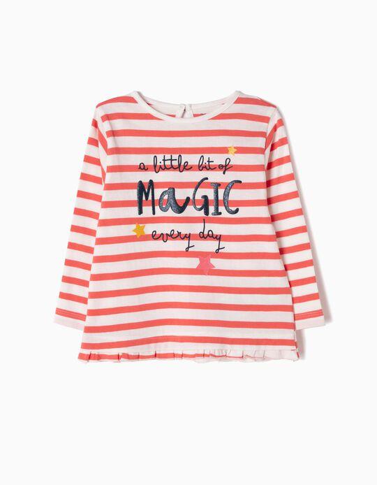 T-shirt Manga Comprida Riscas Magic