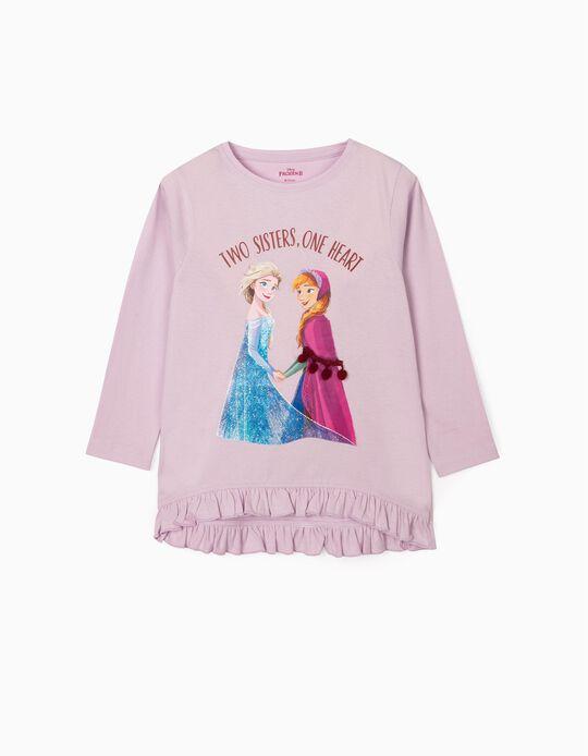 Long Sleeve Top for Girls, 'Frozen II', Lilac