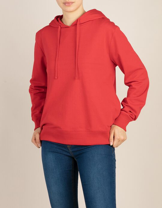 Sweatshirt with Hood & Side Pockets