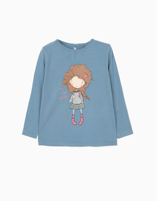 Blue Long-Sleeved Top, Magic Alphabet