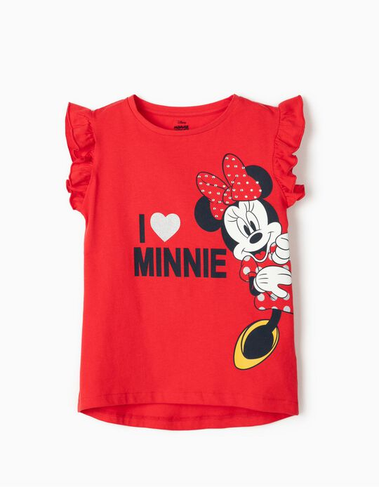 T-shirt for Girls 'Minnie Mouse', Red