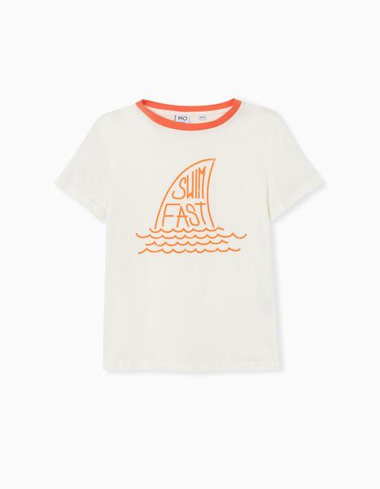 T-shirt, Menino, Branco
