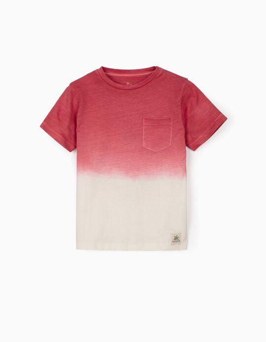 T-shirt para Menino 'Ancient Egypt', Vermelho Escuro/Branco