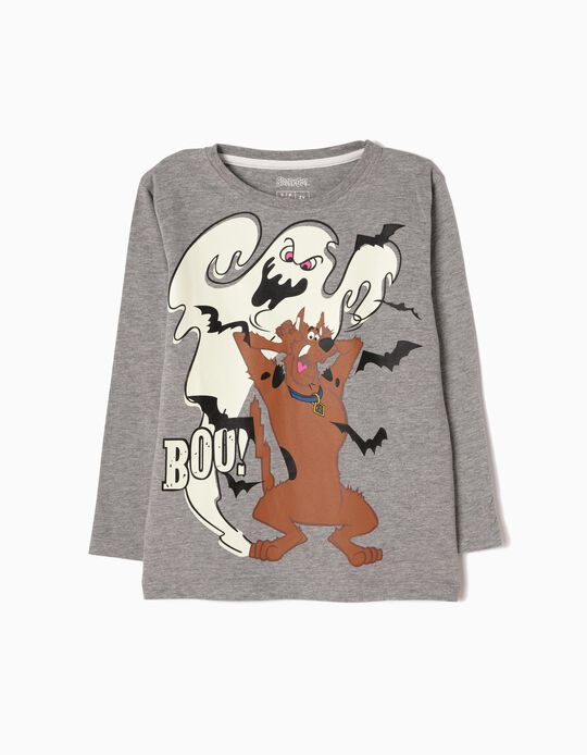 Grey Long-Sleeved Top, Scooby Doo