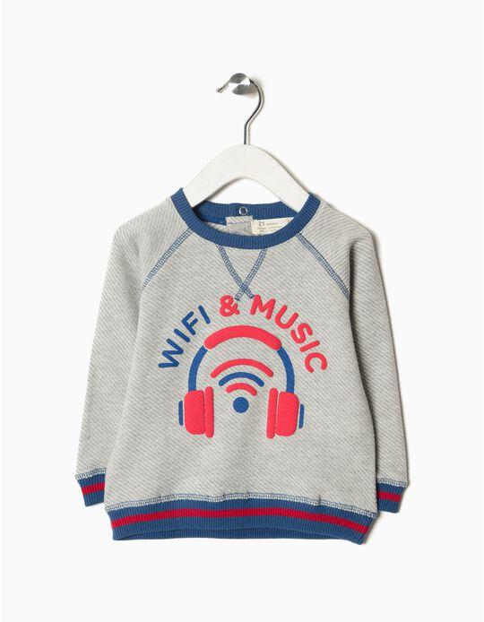 Sweatshirt wifi and music