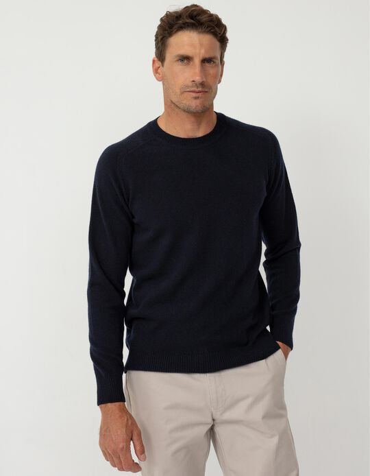 Baby Wool Jumper, Men, Dark Blue