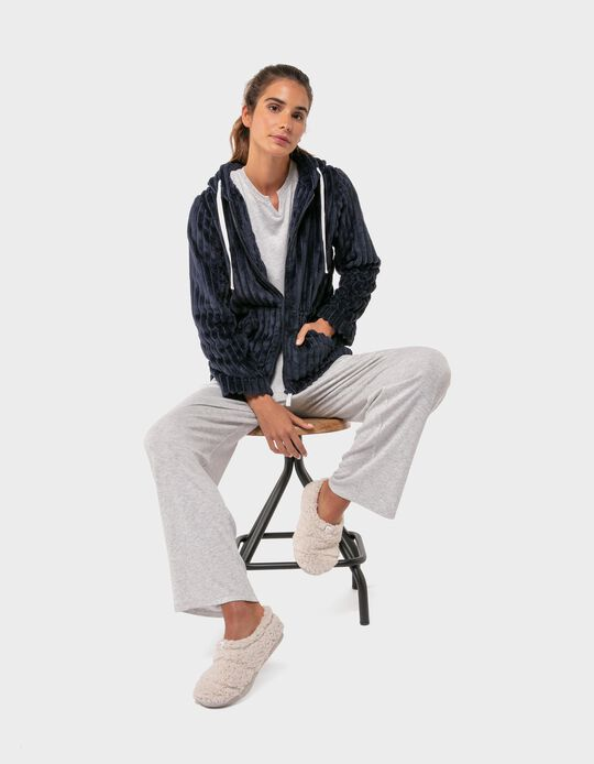 Casaco de Pijama com Capuz
