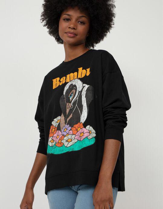 Bambi Carded Sweatshirt, Women, Black
