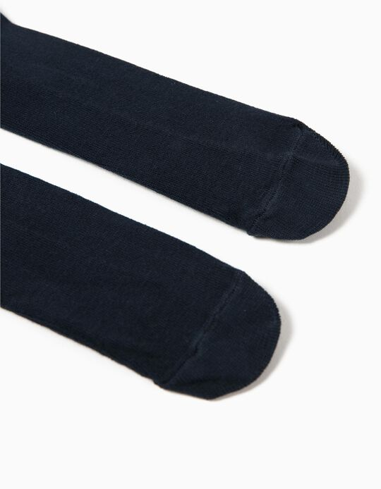 Knit Tights for Baby, Dark Blue