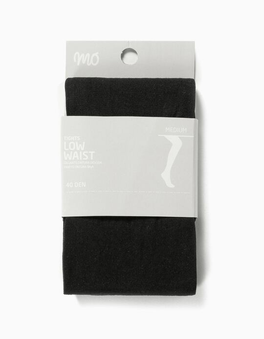 Low Waist Tights, 40 Den