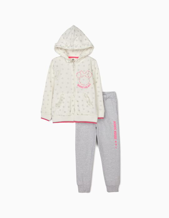 Tracksuit for Girls 'Minnie Galaxy', White/Grey