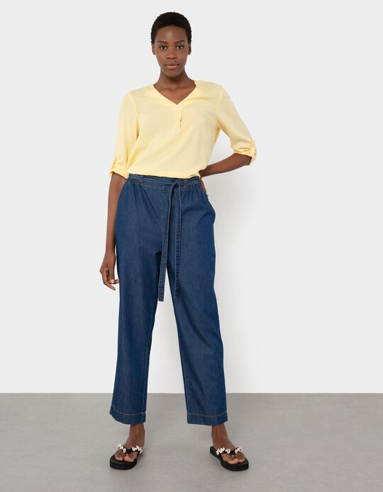 Jeans with Elasticated Waist, Women