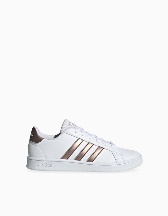 Trainers 'Adidas Grand Court', White/Rose Gold