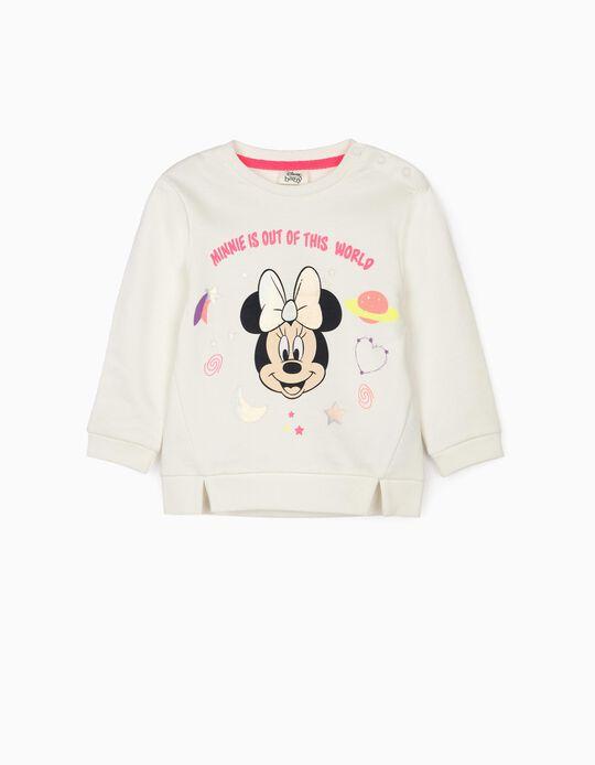Sweatshirt para Bebé Menina 'Minnie World', Branco