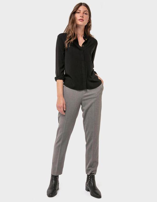 Tweed Herringbone Trousers