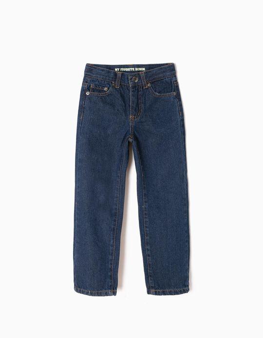Regular Fit Jeans for Boys, Dark Blue