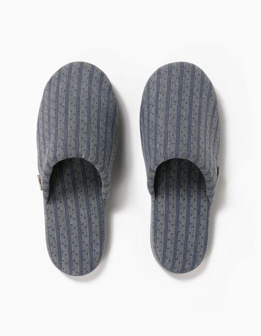 Printed Bedroom Slippers, Men