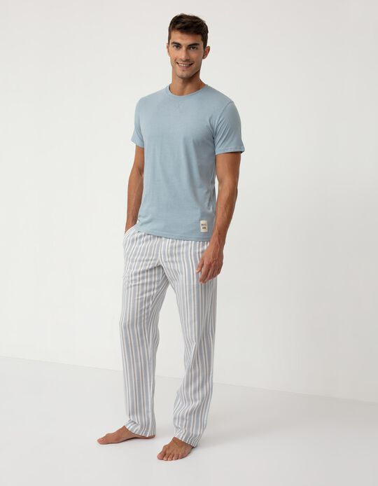 Cotton Pyjamas for Men, Blue