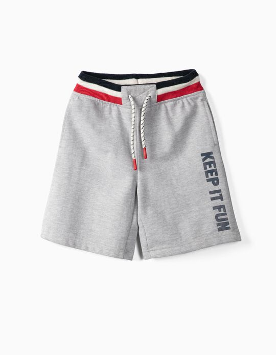 Pull-On Shorts for Boys 'Keep It Fun', Grey