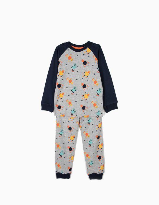 Pijama para Menino 'Robots', Cinza e Azul