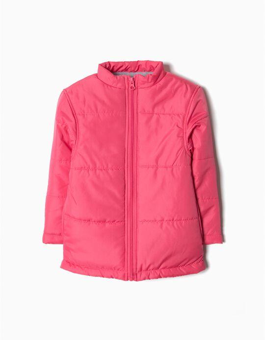 Blusão acolchoado rosa