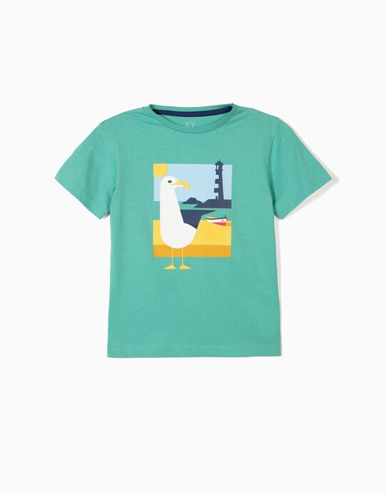 T-shirt for Boys 'Seagull', Green