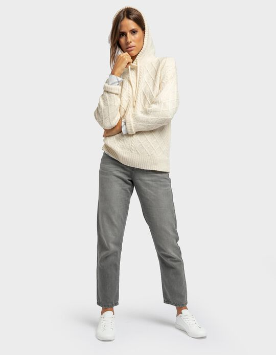 Jeans straight fit com lavagem