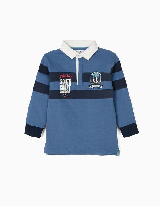 Polo Shirt for Boys 'Vintage Train',  Blue