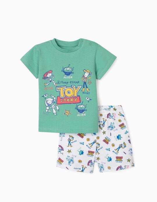 Pijama para Bebé Menino 'Toy Story', Verde/Branco