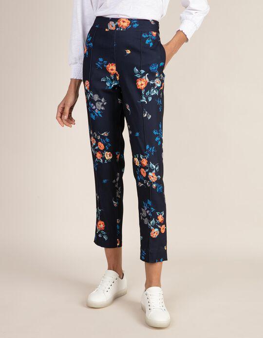 Calças estampado florido