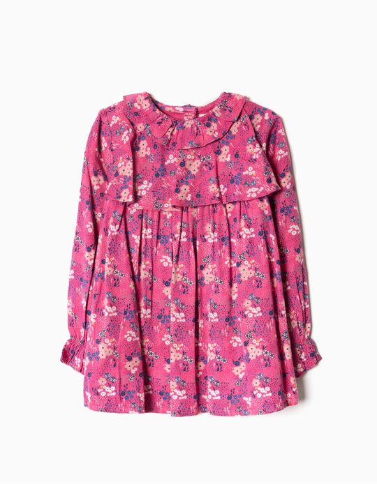 Blusa Estampado Flores Rosa