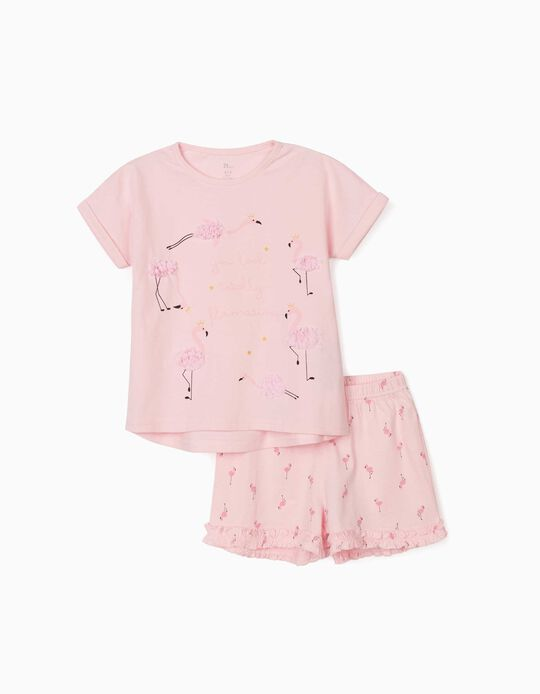 Pyjamas for Girls, 'Flamingos', Pink