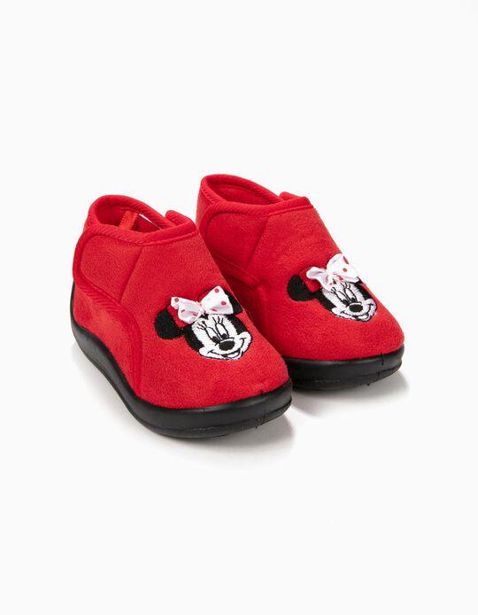 Pantufas Minnie Christmas Vermelhas