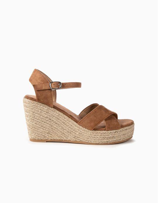 Suedette Platform Sandals