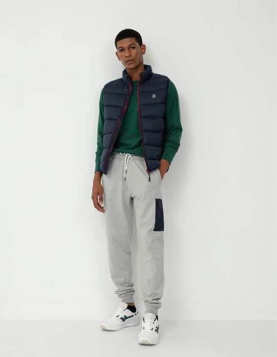 Joggers with Pocket on the Side, Grey