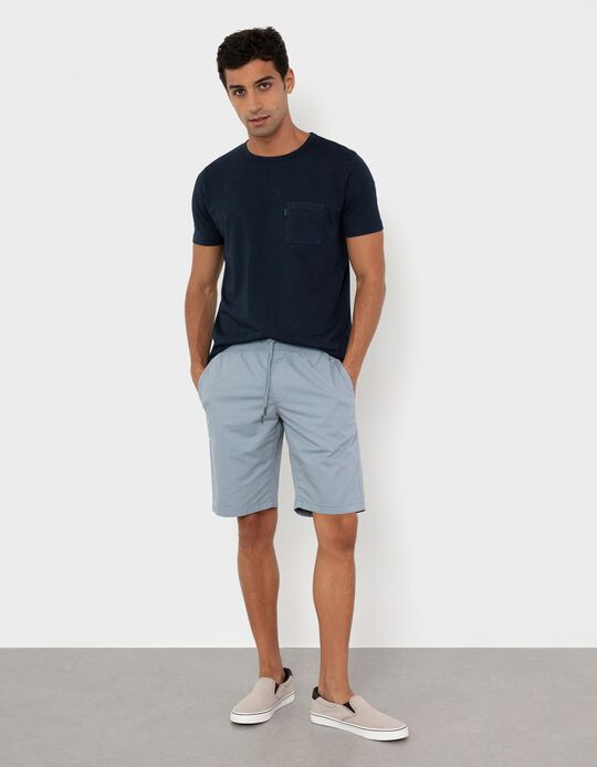 Twill Trousers for Men, Blue