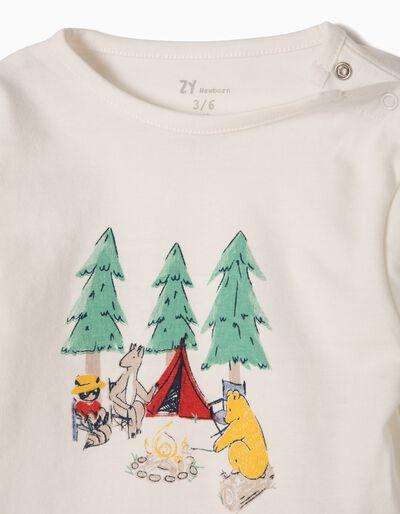 T-shirt Manga Comprida Estampada Woods