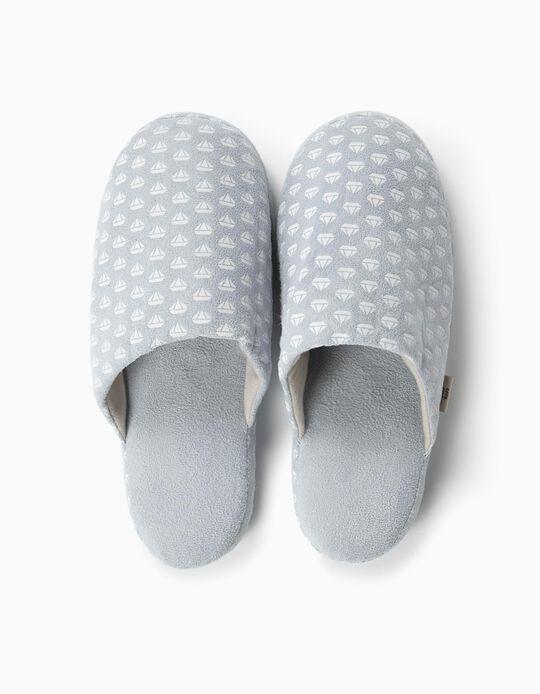 Slippers, Argyle Print