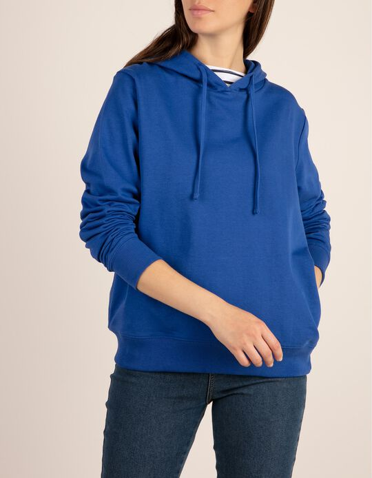 Sweatshirt with Hood & Side Pockets