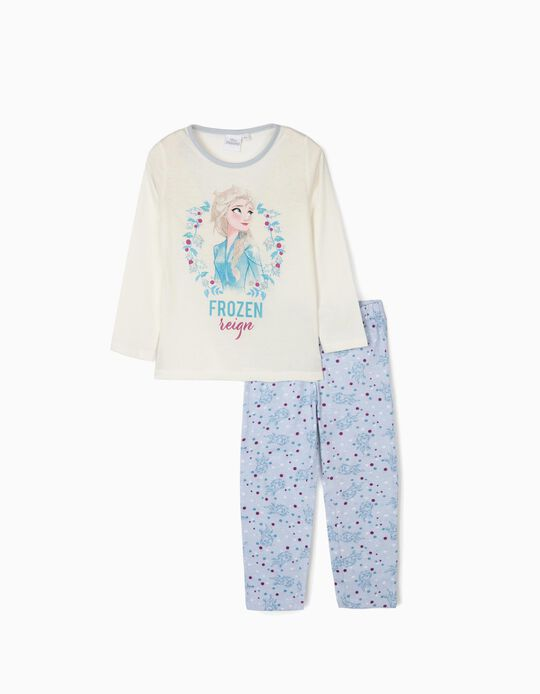 Pyjamas for Girls 'Frozen II', White/Blue
