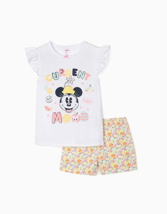Pyjamas for Girls, 'Happy Minnie', White/Multicolour