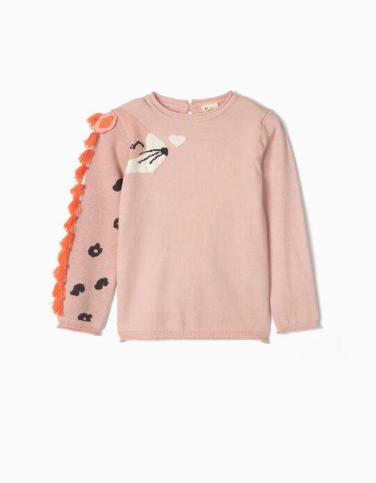 Fantasy Knit Jumper for Girls, Pink