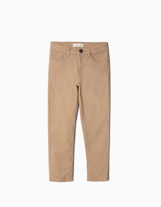 Twill Trousers, Camel