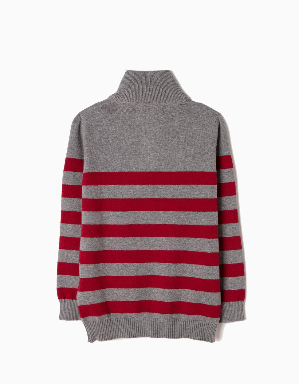 Camisola de Malha Riscas Vermelhas