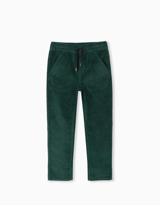 Corduroy Joggers, Boys, Green
