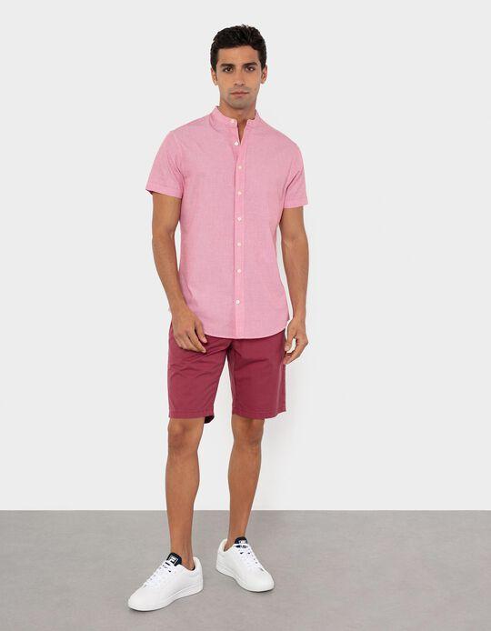 Twill Trousers for Men, Bordeaux